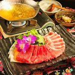 沖縄食堂 瀬戸海人 - 沖縄2大ブランド肉。石垣牛とアグー豚のしゃぶしゃぶ。
