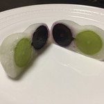 菓匠 花桔梗 - 2種葡萄もち パッカーン