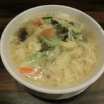 珉珉 - たまごスープ400円
