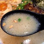 花火 - 花火ラーメン ネギチャ飯セット830円(スープ)