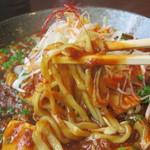 麺や 仁 - 和え麺タイプのマーボーメン。