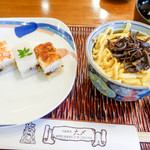 大〆 - 蒸し寿司セット