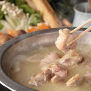 自慢の濃厚水炊きスープ