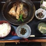 ひさご亭 - カンパチのかぶと煮定食¥1200