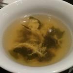 中国菜館 桃の花 - ワカメスープ
