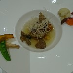 リストランテ ASO - フォアグラのソテー 栗ガボチャと秋野菜 黒トリュフの香