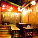 米とサーカス - ビアガーデン気分のテラス席