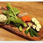 銀座バー GINZA300BAR NEXT - 季節の手づかみ野菜サラダ