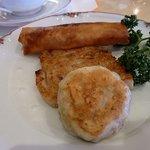 中国料理 天安門 - 飲茶コース(大根餅、ニラ饅頭、春巻き)