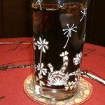 ダヤンカフェ - アイスコーヒー、グラスが可愛い