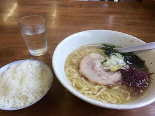 いのまる - 塩ラーメン600円+半ライス100円