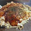 Ramentou - 料理写真:「お好み焼(うどん入り)豚玉 小(1玉)」(500円)