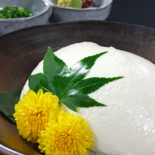 豆家こだわりの国産大豆を使用した料理の数々