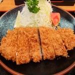 喜多八 - ロースカツ定食(アップ)