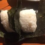 串かつ ふなこし 六甲道 - おにぎり(2016,9)