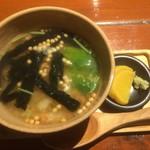 串かつ ふなこし 六甲道 - 鮭茶漬け(2016,9)