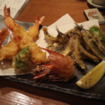 葵 - 料理写真:赤足海老・鰯天麩羅