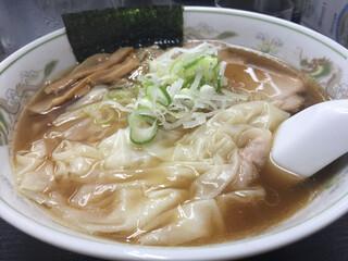 支那そばはせべ - ワンタン麺。佐野のちぢれ麺。あっさりでうまい