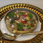 ビストロ ダイア - 北海道産ボタンエビとホッキ貝の冷製 ピュアホワイト トウモロコシのムース