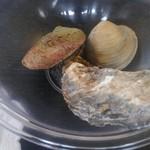 お百姓市場 - エゾアワビ、牡蠣、ホンビノス貝