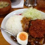 楽喜亭 - チキンカツカレー700円