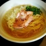 丿貫 - 境港産新鯵煮干の塩そば(800円)