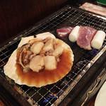 浜焼太郎 - ホタテと、ほほ肉ねぎま