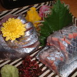 星岡義山亭 - 料理写真:秋刀魚のお刺身