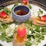 中国料理 桃翠 - 煮玉子食べるラー油添え。