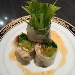 中国料理 桃翠 - 生春巻き。