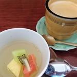 ソシエテ - 食後のデザートとドリンク(コーヒー)