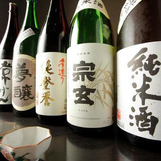 石川の地酒と美味い肴をご用意しております