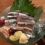 57064679 - 秋刀魚造り