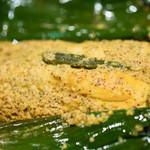 Puja - 2016.10 Maacher Paturi(1,300円)魚のマスタードマリネ 包み焼き