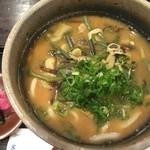 京都大原の味噌鍋専門店 雲井茶屋 - 山菜うどん(味噌味)
