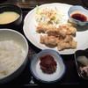 叶八 - 料理写真:日替り定食=500円 鶏の唐揚げです