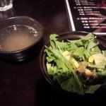 57074095 - 定食のサラダとお味噌汁