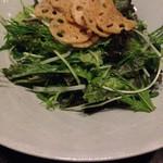 57075326 - レタスと和野菜のシーザーサラダ