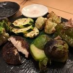 57081920 - 炭焼き野菜の盛合せ