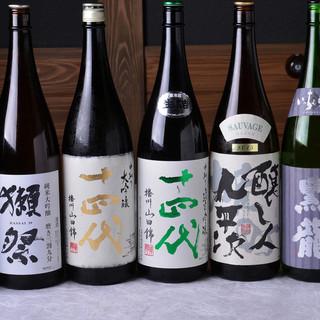日本酒にこだわり◎日本各地の地酒を豊富なラインナップでご用意