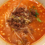57084836 - 担々麺元味☆ スープ熱ければと でも美味しい