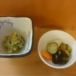 快積 八衛 - 小鉢と漬物