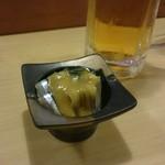 白雪鮨 - お通し。きびなご酢味噌