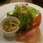 アマポーラ エル トマテ - ランチセットの前菜&サラダ