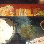57095095 - ヒレカツランチ、ご飯大盛(税込1,030円)(2016.10)