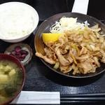 Kashiwaya - 生姜焼定食