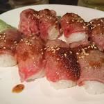 57095865 - 肉寿司♪たっぷり(。≖ิ‿≖ิ)ニヤリ