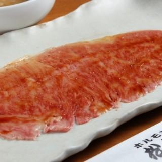 とろろダレと食べる松田焼き