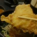 ゆで太郎 - 豚天をお出汁に浸して、