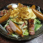 大黒屋 そば店 - 【晩酌定食】ごちそうサラダ